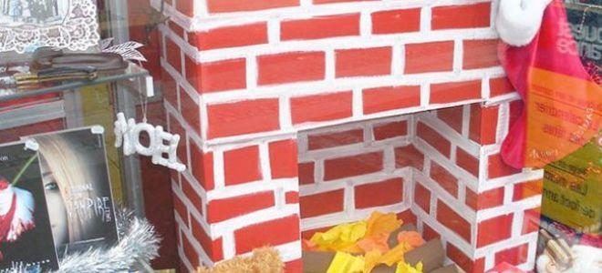 Камин из картонных коробок своими руками, мастер классы по строительству фальш-каминов
