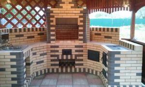 Мангал-камин для барбекю из кирпича, тонкости самостоятельного строительства