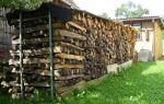 Как правильно организовать хранение дров, готовые решения