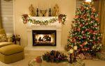 Каким способом можно украсить камин на Новый год и Рождество