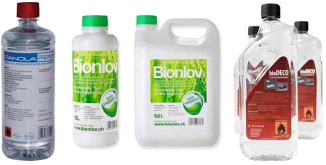 Известные марки биотоплива для экокаминов