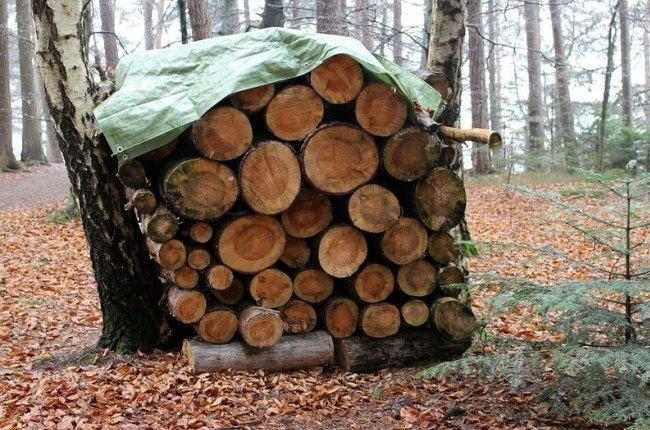 Самая простая поленница дров