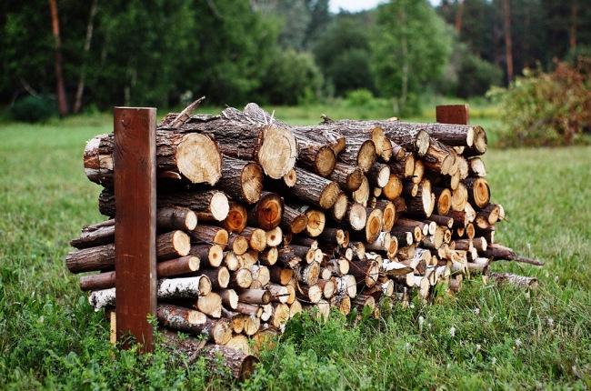 Самая простая поленница для дров