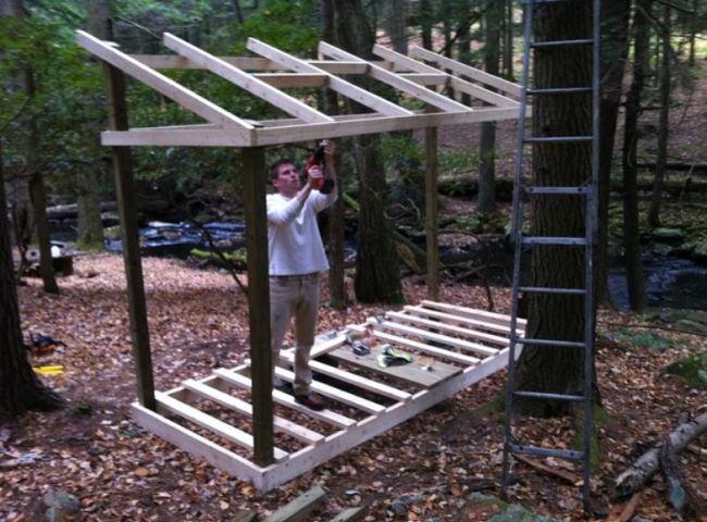Работы по строительству дровяника