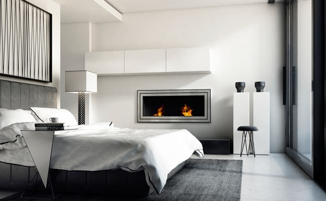 Современный интерьер спальни в светлых цветах