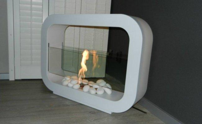 Напольный биокамин в футуристическом стиле