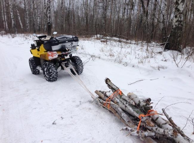 Транспортировка дров из леса