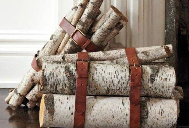 Пара связок березовых дров