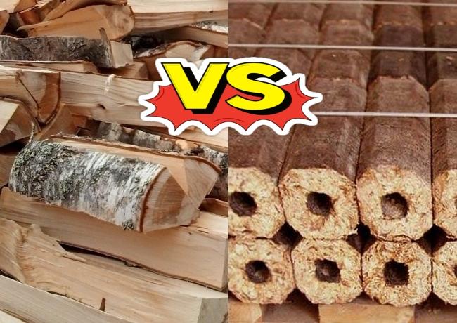Сравнение дров и топливных брикетов