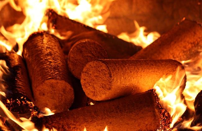 Сгорание топливных брикетов в печи