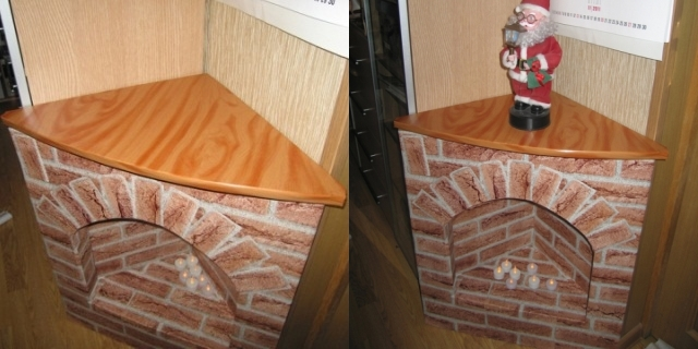 Самодельный угловой фальш-камин