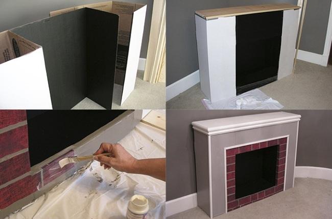 Строительство самодельного камина с простыми формами