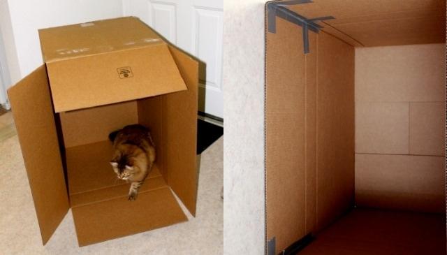 Создаем форму камина из картонной коробки