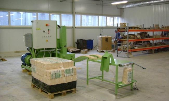 Цех по производству брикетов топлива