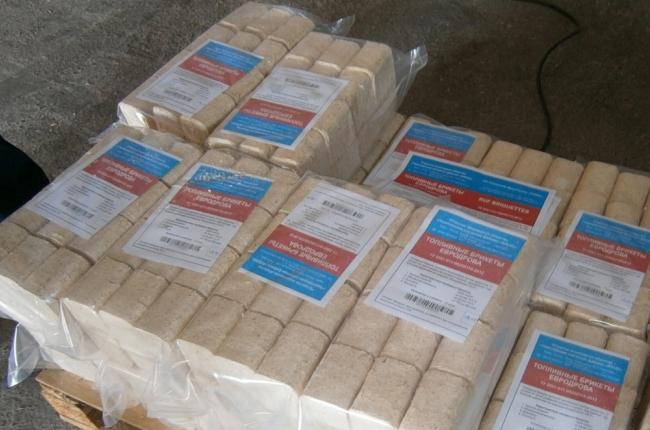 Удобная упаковка для прессованных брикетов