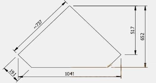 Самый простой чертеж камина