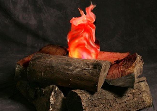 Искусственный огонь из ткани