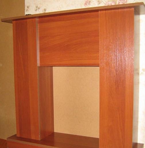 Портал для камина построен из ЛДСП