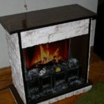 Готовый фальш-камин с огнем внутри