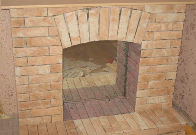 Гипсокартонный фальш-камин готов