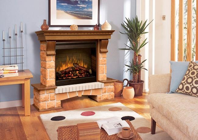 Красивый декоративный элемент гостиной комнаты