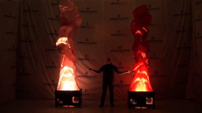 Шелковое пламя больших размеров