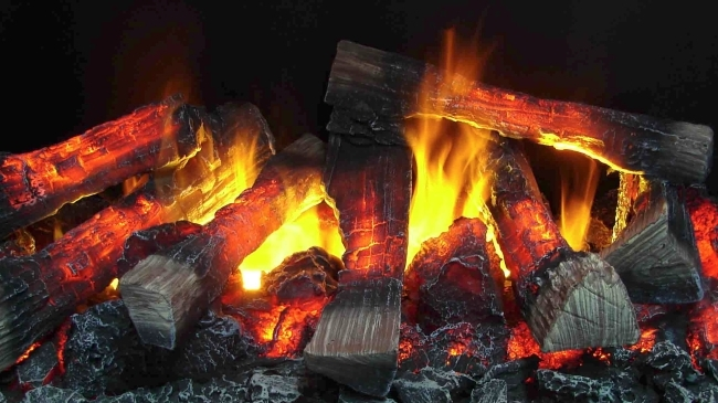 Паровая имитация огня