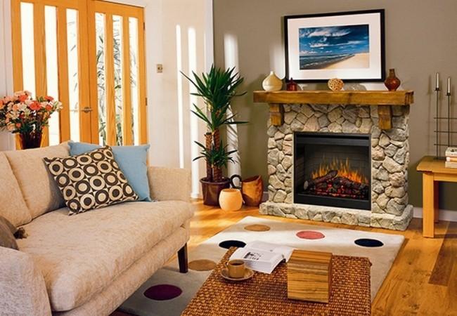 Небольшая уютная гостиная комната