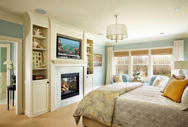 Компактный интерьер небольшой спальни