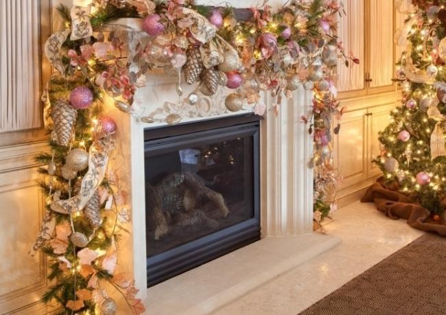 Новогоднее украшение гостиной