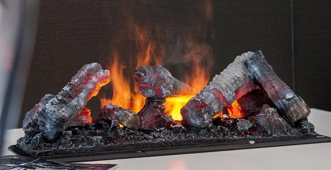 Отличная имитация настоящего огня и дыма