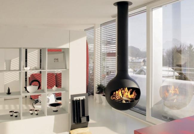 Контрастный дизайн небольшого помещения