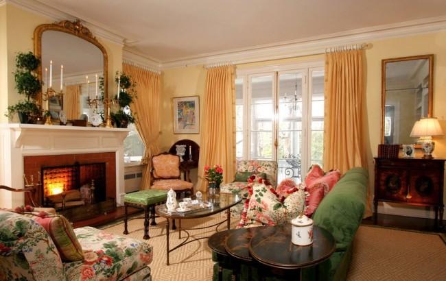 Спокойный и легкий интерьер гостиной