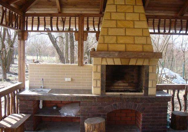 Каминный комплекс для готовки еды