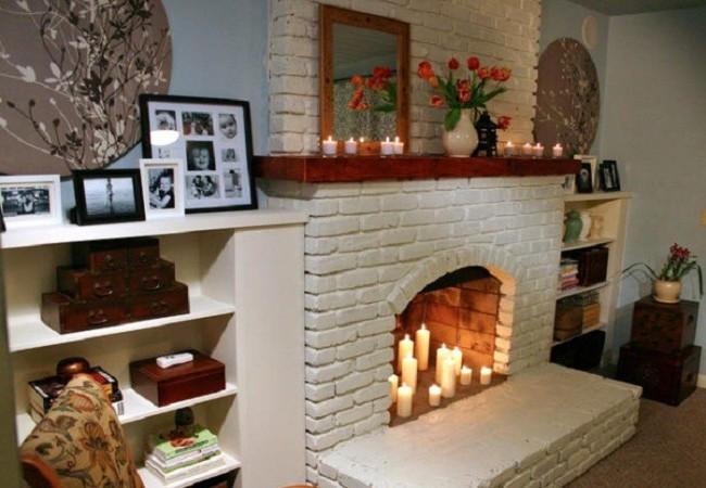 Свечной камин в доме
