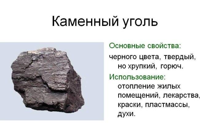Каменный уголь и его свойства