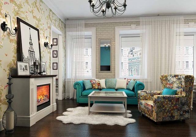 Использование стиля прованс в интерьере гостиной
