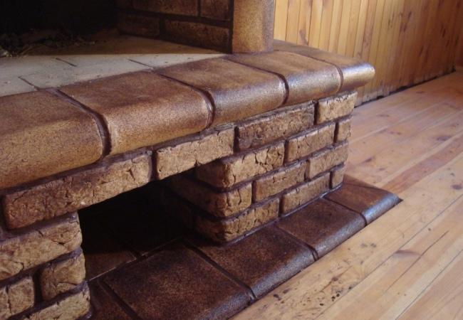 Шамотная отделка каминной системы