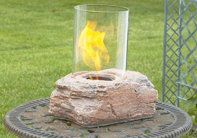 Небольшой биокамин в камне
