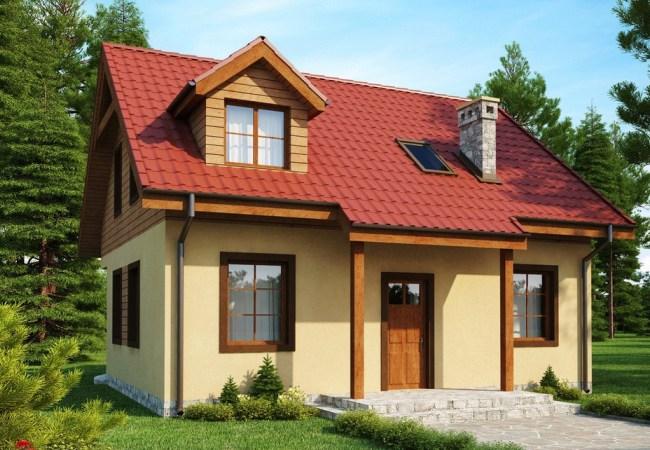 Нарисованный двухэтажный дом