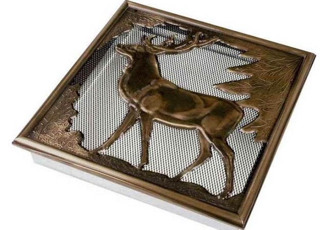 Штамповка с рисунком оленя