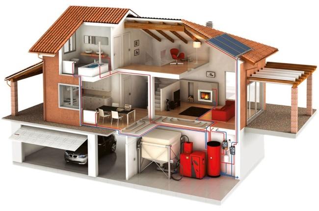 Разводка отопительной системы по дому