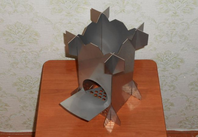 Разборная печка из металлических листов