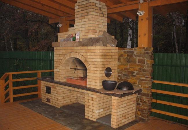 Многофункциональная печь на даче