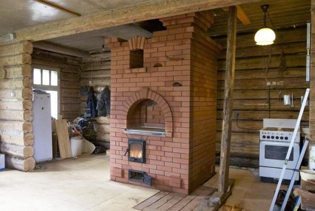 Русская печка в доме
