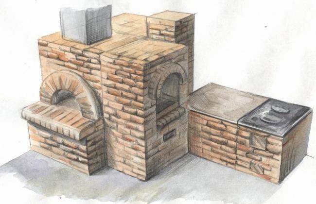 Рисунок будущей печки