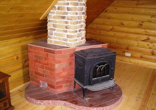 Печка на постаменте